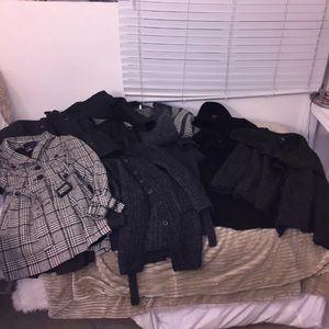 Bundle Of 7 Wool/Trench Coats, Jacket, cardigans